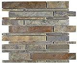 mosaico azulejos Pizarra piedra natural óxido Brick...