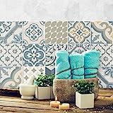 54 (Piezas) Adhesivo para Azulejos 10x10 cm - PS00086 - Agadir - Adhesivo Decorativo para...