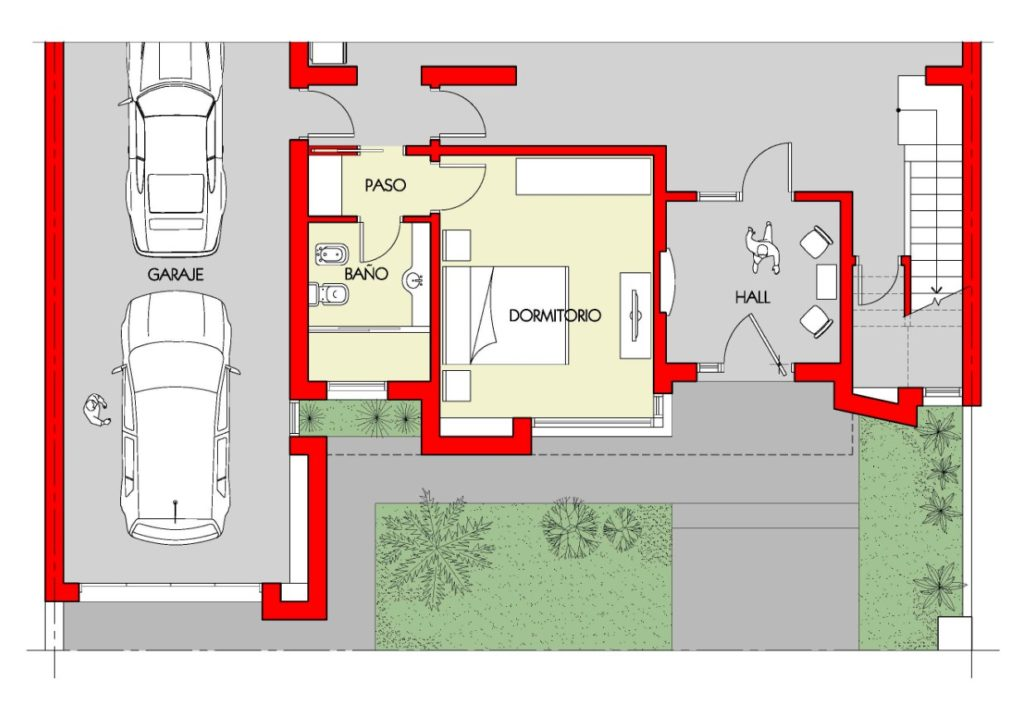 diseño de escaleras interiores de casas