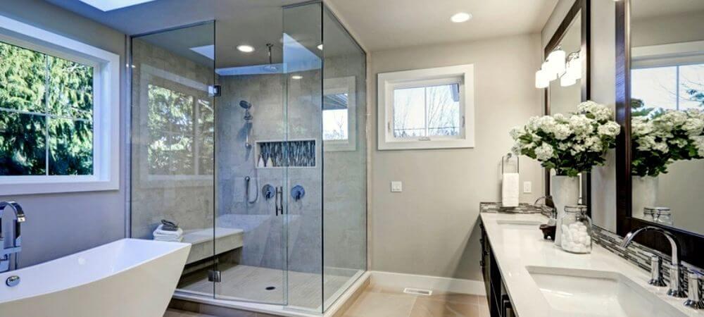 mampara de cristal templado para baño