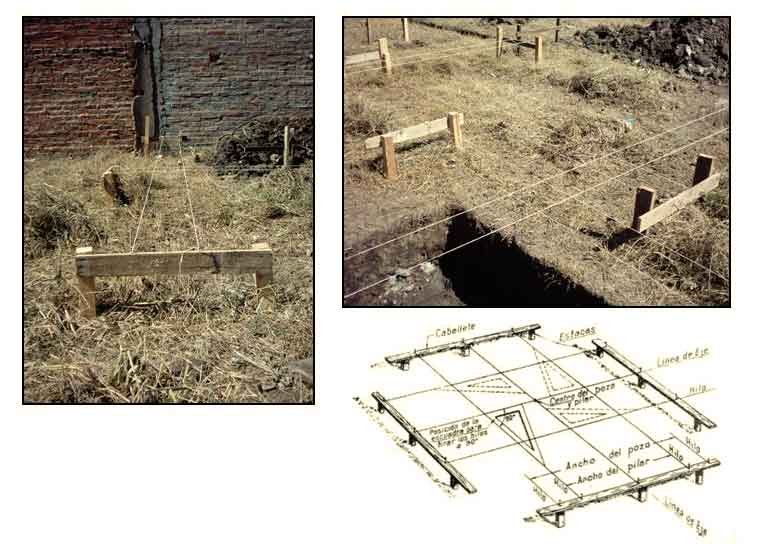 replanteo de una casa a construir